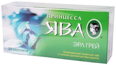 Чай Ява  зелёный с бергамотом 25 пакетиков