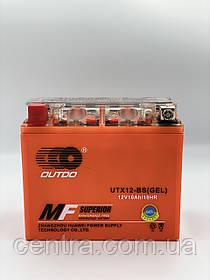 Аккумулятор мото Outdo 10Ah YTX12-BS GEL