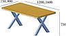 Стол обеденный в стиле лофт металлический Тайм, фото 2