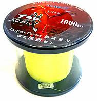 Карповая леска Dr.Agon ISO 1000 метров флюорисцентная желтая