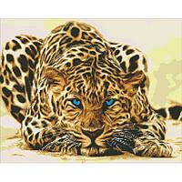 """Алмазная вышивка. """"Леопард притаился"""" 40*50см AM6125"""