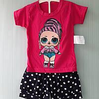 Летний костюм для девочек с лол LOL в наличии размеры 98см,104см