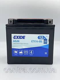Мото аккумулятор EXIDE ETX14-BS 12Ah