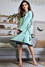 Шёлковая ночнушка с халатом женская бирюзовая, фото 4