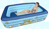 Надувной бассейн с сиденьем 180х128х50 см