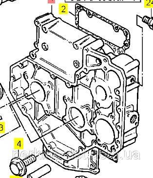 3716c16/5 Крышка передняя двигателя Perkins 1004,