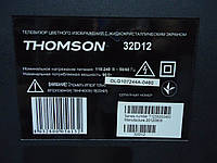 """Телевизор 32"""" Thomson L32D12 на запчасти (V315B6-L04, 40-MS8200-MAD2XG, 07-380F15-NFHG, SHP3206A-101H), фото 1"""