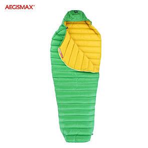 Пуховый спальный мешок aegismax LETO +7°C +2°C. Размер M 700FP Зеленый.
