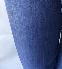 Летние женские брюки норма лен(коттон) 14 синий, фото 3