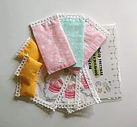 Комплект постельного белья (хлопок) на три спальных места для кукол LOL (ЛОЛ), 9 ед.