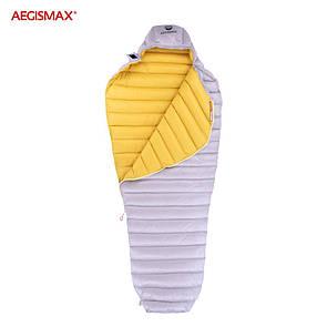 Пуховый спальный мешок aegismax LETO +7°C +2°C. Размер L 700FP Серый.
