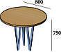 Стол обеденный круглый в стиле лофт металлический Ви-3, фото 2
