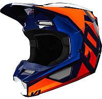 Мотошлем FOX V1 PRIX HELMET ORANGE BLUE, фото 1
