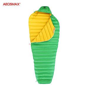 Пуховый спальный мешок aegismax LETO +7°C +2°C. Размер L 700FP Зеленый.