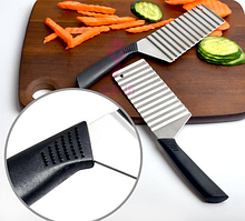 Нож для декоративной волнистой нарезки овощей