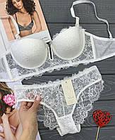 Кружевное нижнее женское белье, бюст Анжелика размер 75С , белый цвет