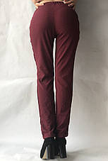 Летние женские брюки батал горох  бордо17, фото 2