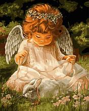 Картина по Номерам Ангелочек и кролик 40х50см RainbowArt