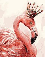 Картина по Номерам Королевский фламинго 40х50см RainbowArt