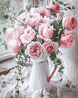 Картина по Номерам Букет нежных роз 40х50см RainbowArt