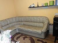 Перетяжка углового дивана. Перетяжка мягкой мебели Днепр., фото 1