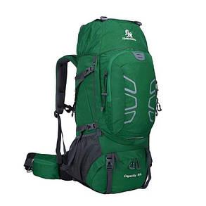 Рюкзак туристичний для трекинга 60 литра. Зеленый.