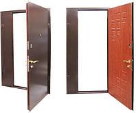 Полуторная Входная дверь с порошковой покраской RAL+МДФ
