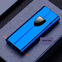 Электроимпульсная Usb зажигалка с круглой спиралью Winner Blue