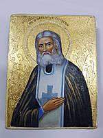 Рукописная икона Святого Чудотворца Серафима Саровского