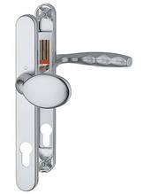 Нажимной гарнитур Hoppe New York с неподвижной ручкой серебро F1