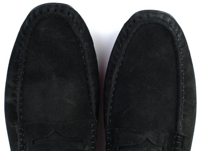 Черные замшевые летние мокасины мужская обувь Rosso Avangard ETHEREAL Classic Black Vel