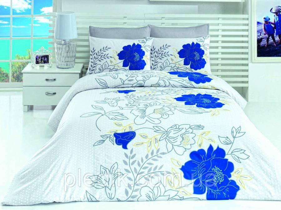 Постельное белье двуспальное евро LightHouse бязь голд TURKUAZ голубой 44377_2.0Z