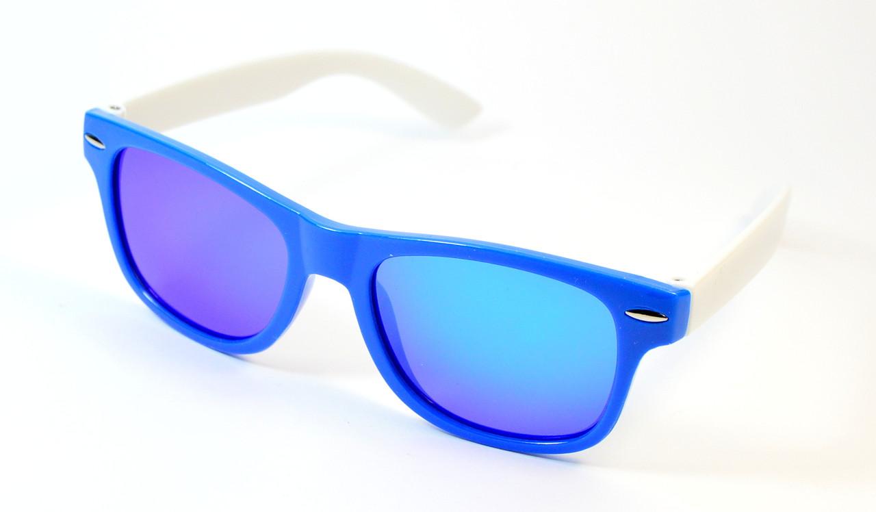 Детские зеркальные очки Wayfarer Polaroid (Р974 син)