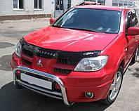 Дефлектор капота (мухобойка) Mitsubishi Outlander 2001-2007