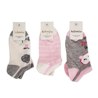 Хлопковые короткие носки для девочек 5-6 лет ТМ Katamino 54896127741513