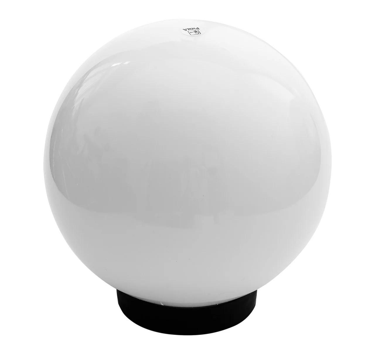 Садово-парковый светильник шар опал белый 400 мм