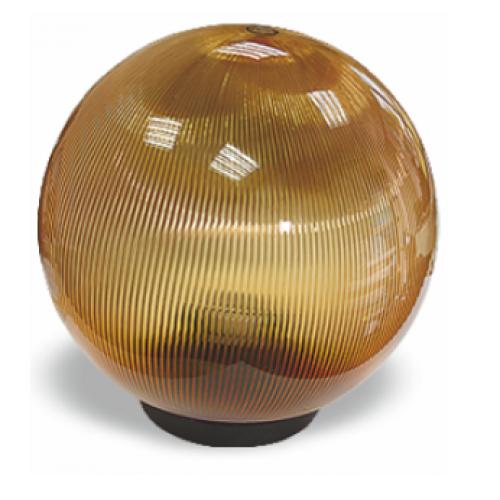 Садово-парковый светильник шар опал золотой 150 мм