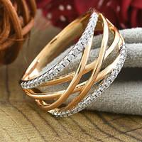 Кольцо Xuping Jewelry размер 21,5 Лада медицинское золото позолота 18К + родий А/В 5496