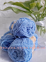 Плюшевая пряжа ализе SOFTY голубого цвета 40