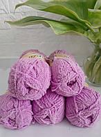 Плюшевая пряжа ализе SOFTY нежно розового цвета 672