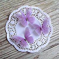 Бабочки из шифона. Дымчато лиловая.