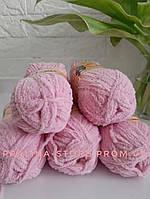 Плюшевая пряжа ализе SOFTY розового цвета 98