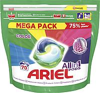 Капсулы для стирки цветного Ariel Color Pods 3 в 1 70 шт, фото 1