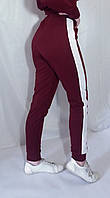 Штаны брюки спортивные с лампасами женские  58 Штани з двонитки  з лампасами різні кольори