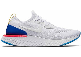 Кроссовки Nike Epic React Flyknit Running Shoes White Blue AQ0067-400 белые женские