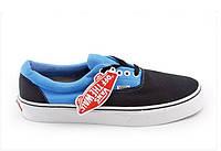 "Кеди Vans Era Black Blue"" (Копія ААА+), фото 1"
