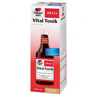 Doppelherz Vital Tonik  с ресвератролом, биофлаоноидами, боярышником, витаминами, минералами,   жидкий 1000 мл