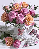 Картина по Номерам Розовая нежность 40х50см RainbowArt
