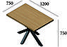 Стол обеденный в стиле лофт металлический Кросс, фото 2