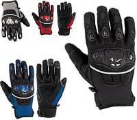 Перчатки Ткань Для Защиты Мотоцикла Суставы Летний Ткань Сетка Ажурная Летняя XS, Черный